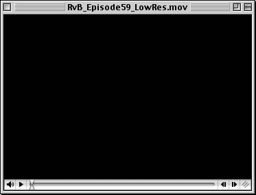 A MoviePlayer 2.5.1 window, showing off QuickTime 6.0.3's controller thumb.