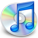 iTunes 7.0's icon: A CD with a shiny blue musical note in front of it.