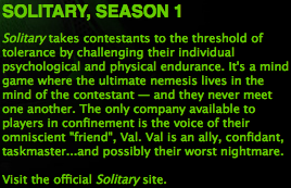 "Screenshot of iTunes Store page for Solitary, season 1. Includes a run of text (""Visit the official Solitary site."") that is linked, but not underlined unless moused over, thereby giving no indication that it is a link unless you are lucky."