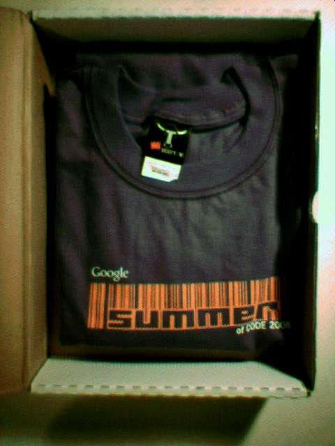 My Google Summer of Code 2006 T-shirt has arrived! Woo-hoo!