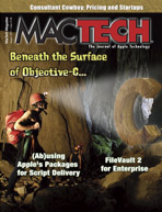 Cover of the August 2011 issue of MacTech magazine.