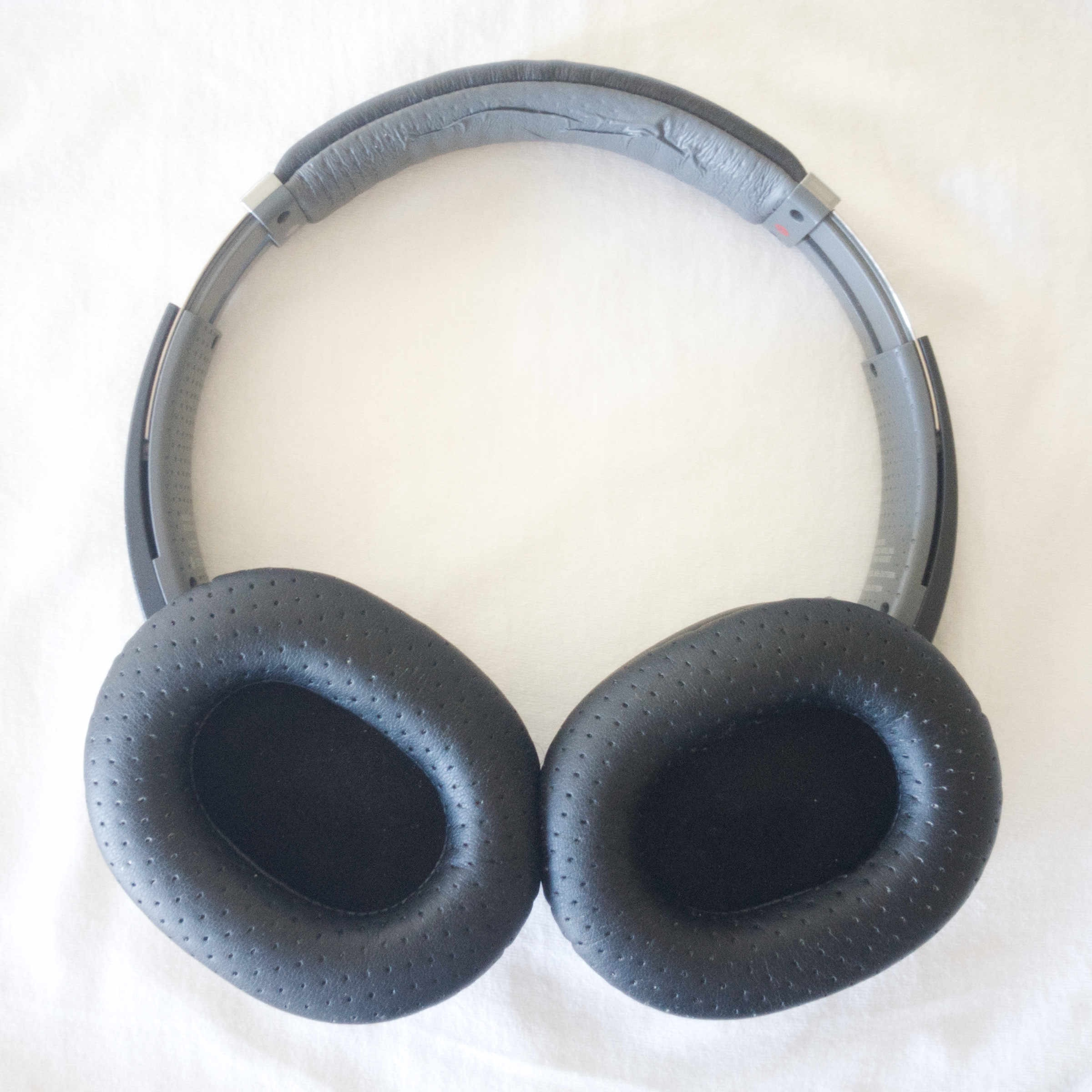 """""""After"""" photo of my MDR-770BN headphones with the Wicked Cushions MDR-7506 replacement earpads installed."""