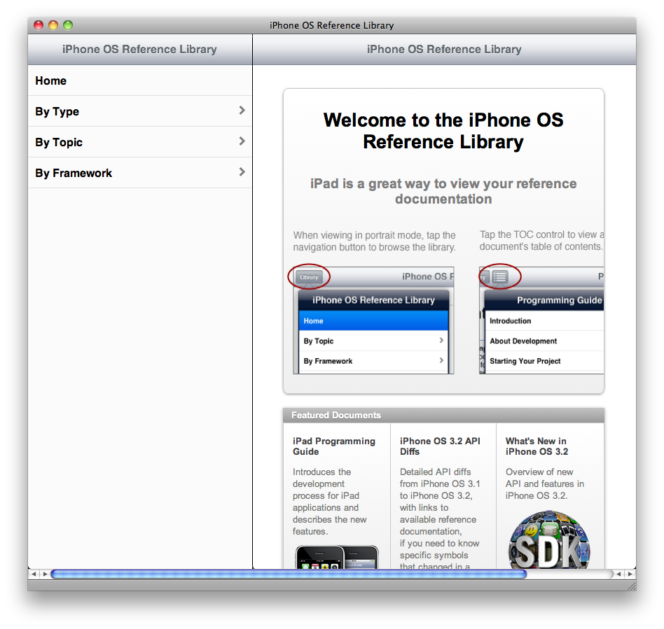 Basically, like an iPhone app for viewing the iPhone documentation. Here's a screenshot of the page in Safari on my Mac.
